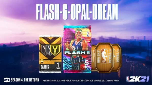 《NBA 2K21》銀河大夢領銜Flash卡包 1