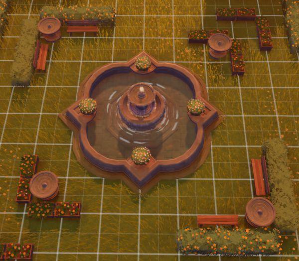 原神-塵歌壺噴泉花園搭建 21