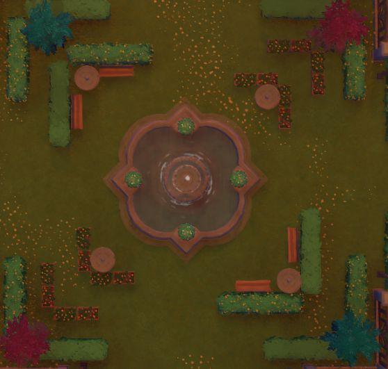 原神-塵歌壺噴泉花園搭建 25