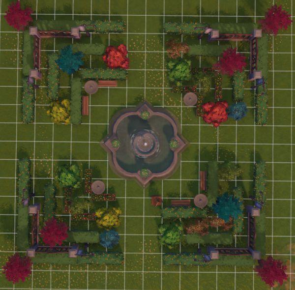 原神-塵歌壺噴泉花園搭建 27