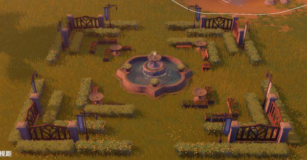 原神-塵歌壺噴泉花園搭建 9