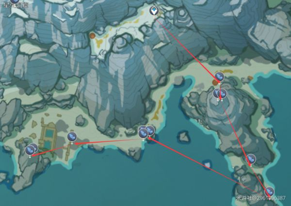 原神-星銀礦石收集線路 5
