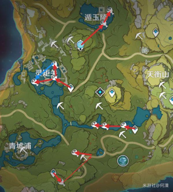 原神-魚肉收集路線展示 23