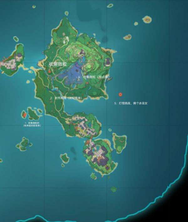 原神-鳴神島全限時挑戰點位標注 5