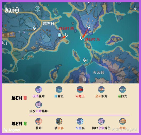 原神-2.1版全釣魚位置分享及魚類分布 25